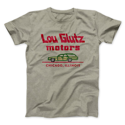 Lou Glutz Motors Men/Unisex T-Shirt-Heather Stone - Famous IRL
