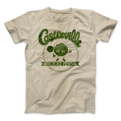 Castroville Artichoke Festival Men/Unisex T-Shirt-Heather Tan - Famous IRL
