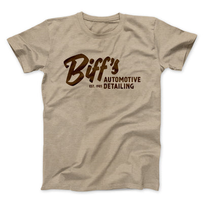 Biff's Auto Detailing Men/Unisex T-Shirt-Heather Tan - Famous IRL