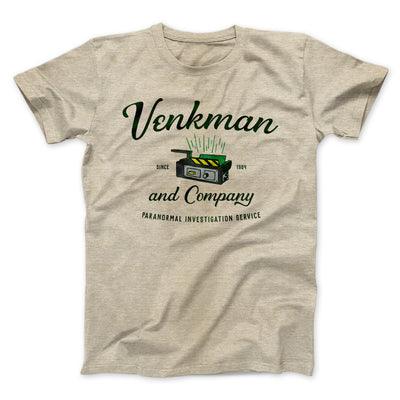 Venkman and Company Men/Unisex T-Shirt-Heather Tan - Famous IRL
