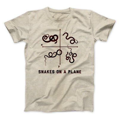 Snakes on a Plane Men/Unisex T-Shirt-Heather Tan - Famous IRL