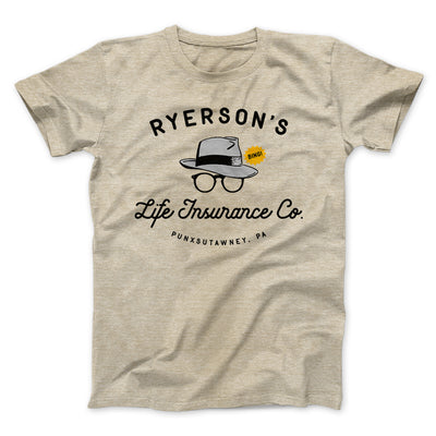 Ryerson's Life Insurance Men/Unisex T-Shirt-Heather Tan - Famous IRL