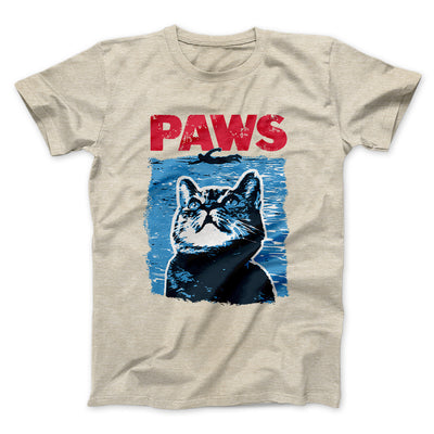 PAWS Men/Unisex T-Shirt-Heather Tan - Famous IRL
