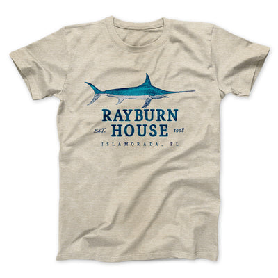 Rayburn House Men/Unisex T-Shirt-Heather Tan - Famous IRL