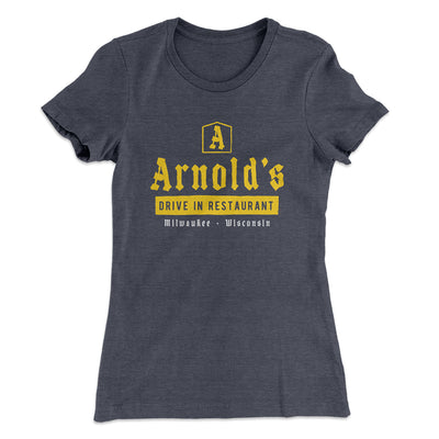 Arnold's Drive In Women's T-Shirt-Solid Heavy Metal - Famous IRL