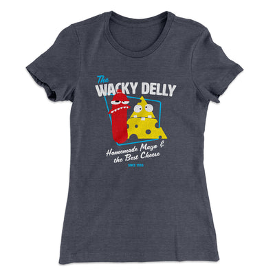 The Wacky Delly Women's T-Shirt-Solid Heavy Metal - Famous IRL