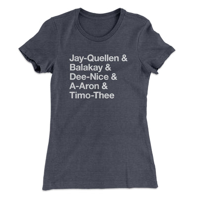 Substitute Teacher Names Women's T-Shirt-Solid Heavy Metal - Famous IRL