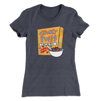 Chunky Puffs Cereal Women's T-Shirt-Solid Heavy Metal - Famous IRL