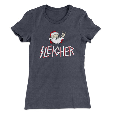 Sleigher Women's T-Shirt-Solid Heavy Metal - Famous IRL