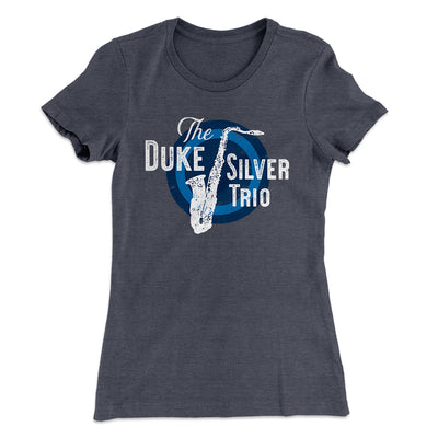 Duke Silver Trio Women's T-Shirt-Solid Heavy Metal - Famous IRL
