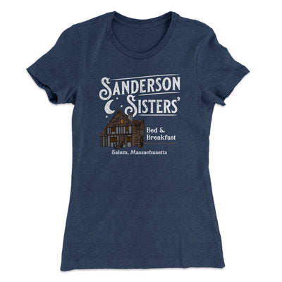 Sanderson Sisters' Bed & Breakfast Women's T-Shirt-T-Shirt-Printify-Solid Indigo-S-Famous IRL