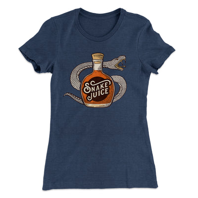 Snake Juice Women's T-Shirt-Solid Indigo - Famous IRL