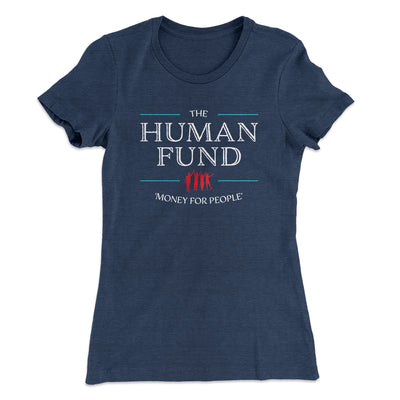 The Human Fund Women's T-Shirt-Solid Indigo - Famous IRL