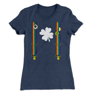 Irish Flair Outfit Women's T-Shirt-Solid Indigo - Famous IRL