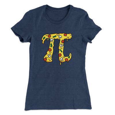 Pizza Pi Women's T-Shirt-Solid Indigo - Famous IRL