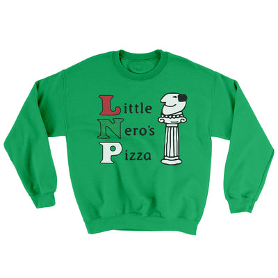 Little Nero's Pizza Men/Unisex Ugly Sweater-Irish Green - Famous IRL