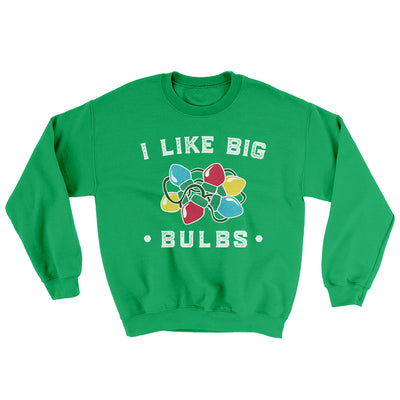 I Like Big Bulbs Men/Unisex Ugly Sweater-Irish Green - Famous IRL