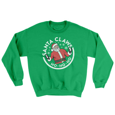 Santa Claws Ugly Sweater-Ugly Sweater-White Label DTG-Irish Green-S-Famous IRL