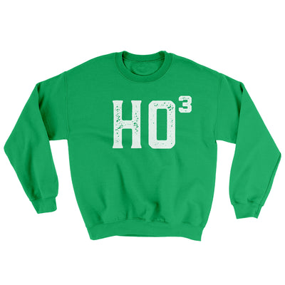 Ho Cubed Men/Unisex Ugly Sweater-Irish Green - Famous IRL