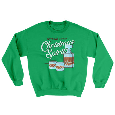 Christmas Spirit Ugly Sweater-Ugly Sweater-White Label DTG-Irish Green-S-Famous IRL