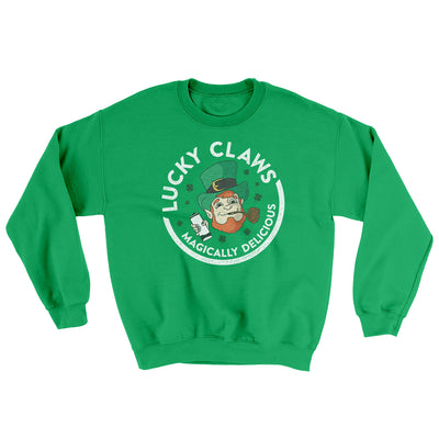 Lucky Claws Ugly Sweater-Ugly Sweater-White Label DTG-Irish Green-S-Famous IRL