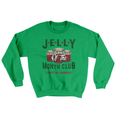 Jelly of the Month Club Men/Unisex Ugly Sweater-Irish Green - Famous IRL