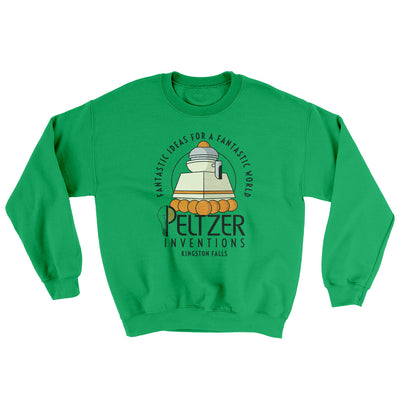 Peltzer Inventions Ugly Sweater-Ugly Sweater-White Label DTG-Irish Green-S-Famous IRL