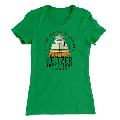 Peltzer Inventions Women's T-Shirt-Women's T-Shirt-White Label DTG-Kelly Green-S-Famous IRL
