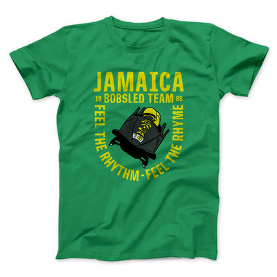 Jamaica Bobsled Team Men/Unisex T-Shirt-Kelly - Famous IRL