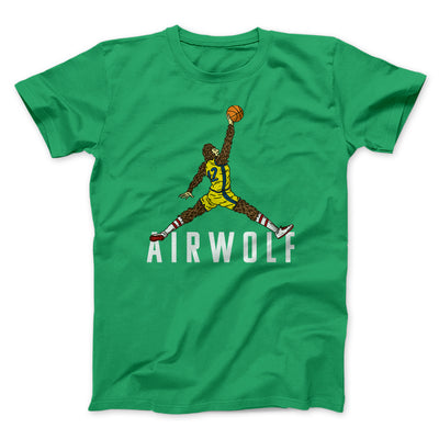 Air Wolf Men/Unisex T-Shirt-Kelly - Famous IRL