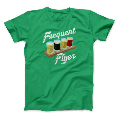 Frequent Flyer Men/Unisex T-Shirt-Men/Unisex T-Shirt-White Label DTG-Kelly-S-Famous IRL