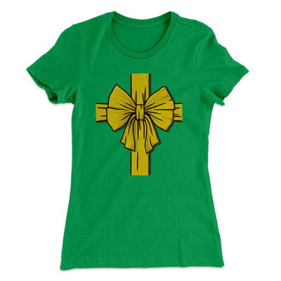I am the Gift Women's T-Shirt-Women's T-Shirt-White Label DTG-Kelly Green-S-Famous IRL