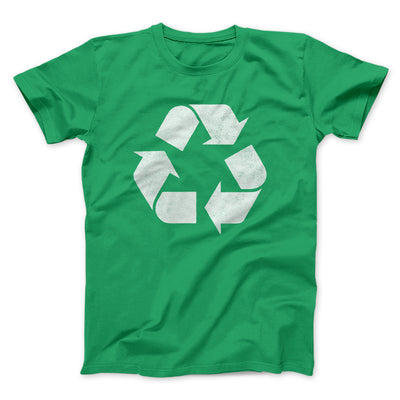 Recycle Symbol Men/Unisex T-Shirt-Kelly - Famous IRL
