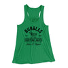 Bubbles Shopping Carts Women's Flowey Racerback Tank Top-Kelly - Famous IRL