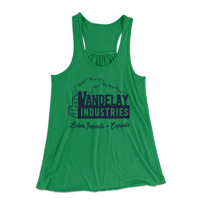 Vandelay Industries Women's Flowey Racerback Tank Top-Kelly - Famous IRL