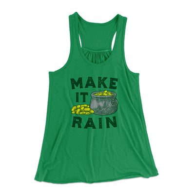 Make It Rain Women's Flowey Racerback Tank Top-Kelly - Famous IRL