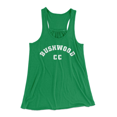 Bushwood Country Club Women's Flowey Racerback Tank Top-Kelly - Famous IRL