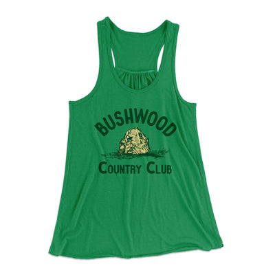 Bushwood Country Club Women's Flowey Racerback Tank Top - Famous IRL Funny and Ironic T-Shirts and Apparel