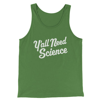 Y'all Need Science Men/Unisex Tank-Men/Unisex Tank Top-White Label DTG-Leaf-S-Famous IRL