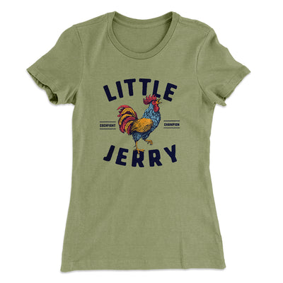 Little Jerry Women's T-Shirt-Solid Light Olive - Famous IRL