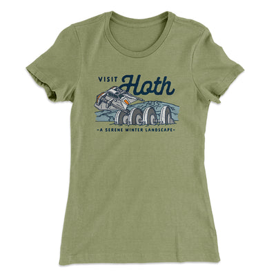 Visit Hoth Women's T-Shirt-Solid Light Olive - Famous IRL