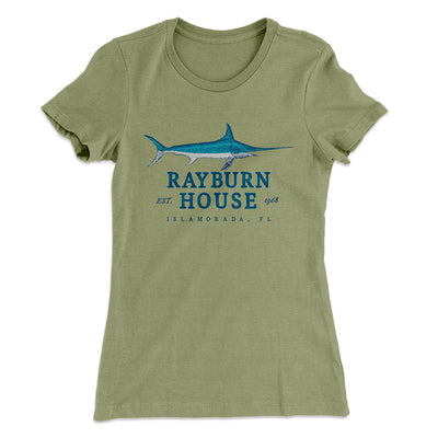 Rayburn House Women's T-Shirt-Solid Light Olive - Famous IRL