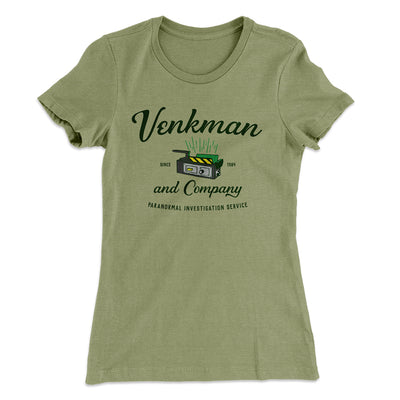 Venkman and Company Women's T-Shirt-Solid Light Olive - Famous IRL