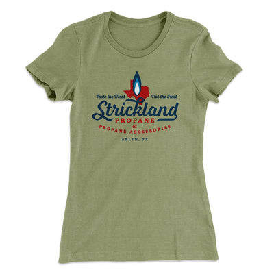 Strickland Propane Women's T-Shirt-Solid Light Olive - Famous IRL