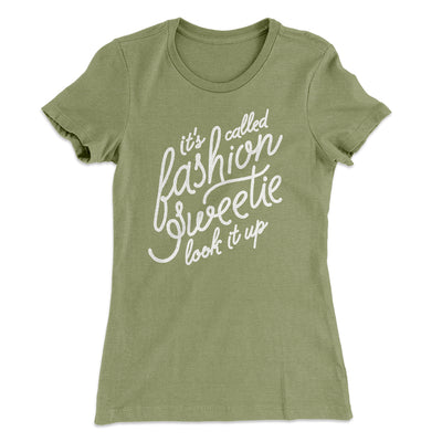 It's Called Fashion Sweetie Women's T-Shirt-Solid Light Olive - Famous IRL