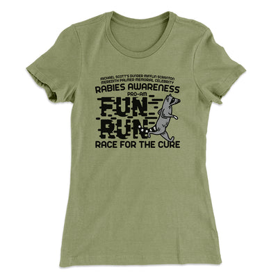 Rabies Awareness Women's T-Shirt-Solid Light Olive - Famous IRL