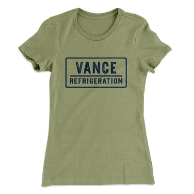 Vance Refrigeration Women's T-Shirt-Solid Light Olive - Famous IRL