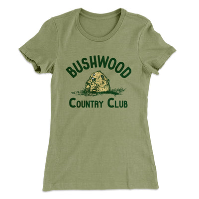 Bushwood Country Club Women's T-Shirt-Solid Light Olive - Famous IRL
