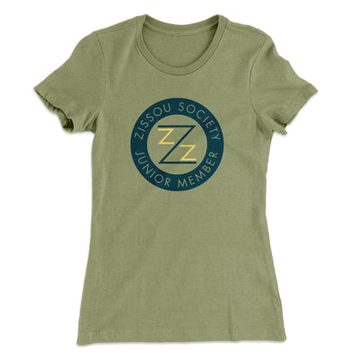 Zissou Society Member Women's T-Shirt-Solid Light Olive - Famous IRL