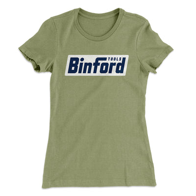 Binford Tools Women's T-Shirt-Solid Light Olive - Famous IRL